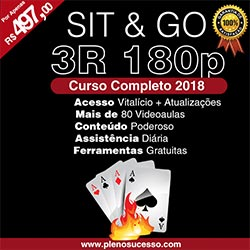 Curso de Sit & Go 3+R 180 Players